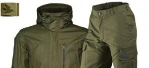 kurtka i spodnie z membraną na polowania